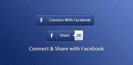 [Freebie] Connect & Share with Facebook Buttons