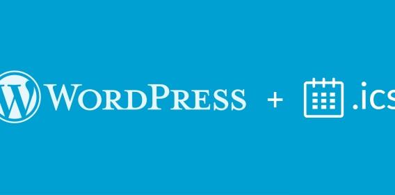 Create .ics calendar files from WordPress posts & custom post types