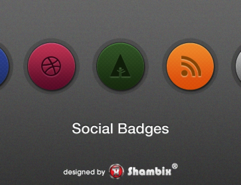 [Freebie] Set of Social Badges