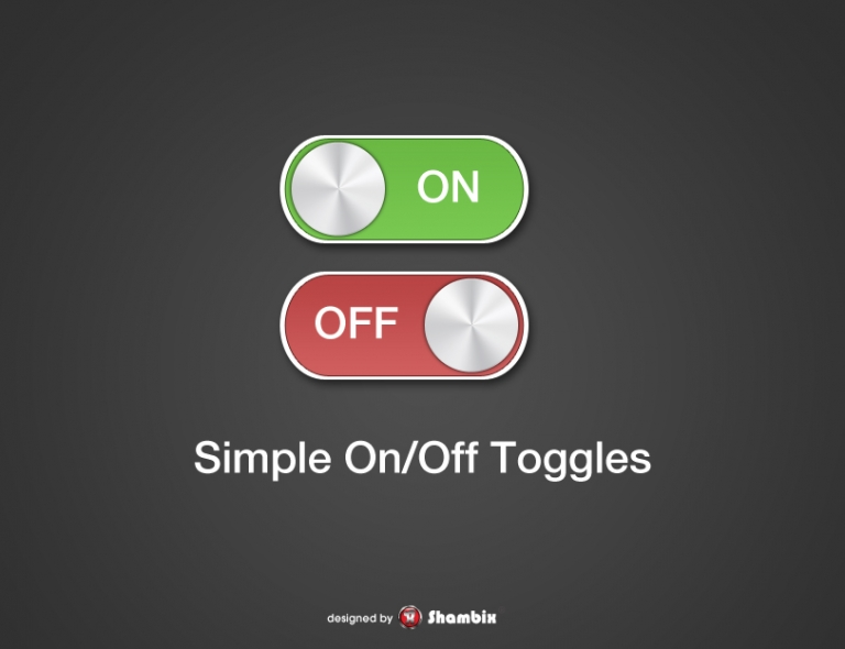 [Freebie] Simple On / Off Switches / Toggles