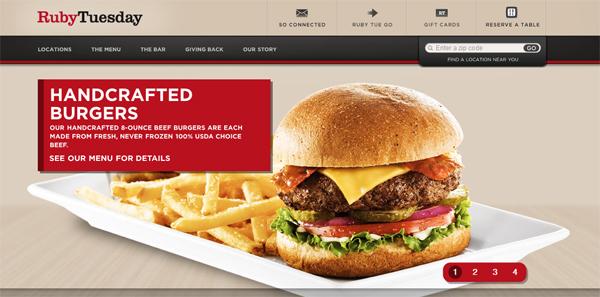 , 10 Appetizing Restaurant Websites, Shambix