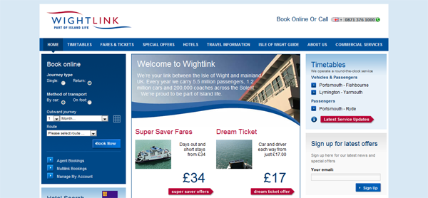 13 Stunning Ferry Websites To Send You Overboard | Shambix