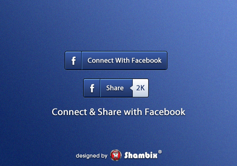 , [Freebie] Connect & Share with Facebook Buttons, Shambix