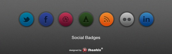 , [Freebie] Set of Social Badges, Shambix