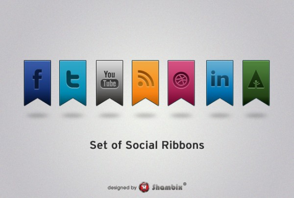 , [Freebie] Social Media Ribbons, Shambix
