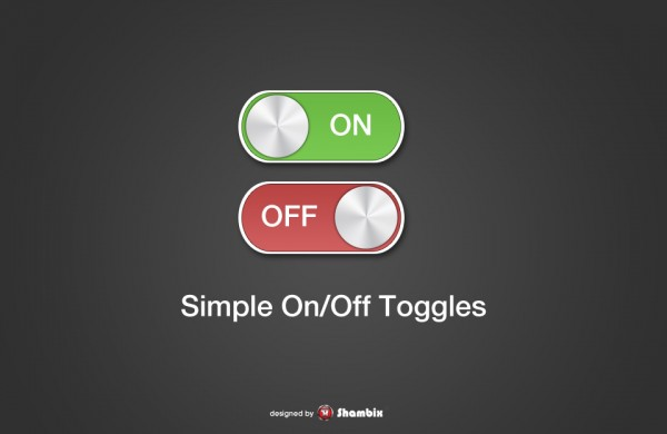 , [Freebie] Simple On / Off Switches / Toggles, Shambix
